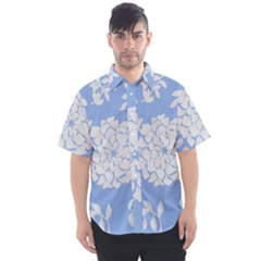 White Dahlias Men s Short Sleeve Shirt