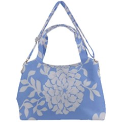 White Dahlias Double Compartment Shoulder Bag by WensdaiAddamns