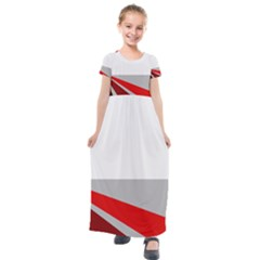 Lift Off Kids  Short Sleeve Maxi Dress by WensdaiAddamns