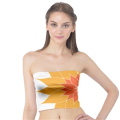 Sunflower Flower Orange Abstract Tube Top by AnjaniArt