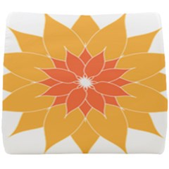 Sunflower Flower Orange Abstract Seat Cushion by AnjaniArt