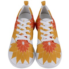 Sunflower Flower Orange Abstract Men s Lightweight Sports Shoes