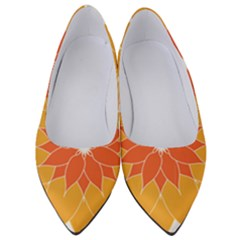Sunflower Flower Orange Abstract Women s Low Heels by AnjaniArt