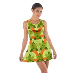 Texture Plant Herbs Herb Green Cotton Racerback Dress by AnjaniArt