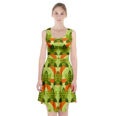 Texture Plant Herbs Herb Green Racerback Midi Dress by AnjaniArt