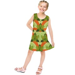 Texture Plant Herbs Herb Green Kids  Tunic Dress by AnjaniArt