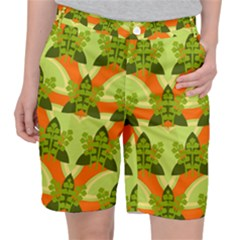 Texture Plant Herbs Herb Green Pocket Shorts