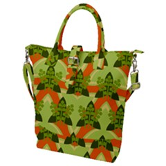 Texture Plant Herbs Herb Green Buckle Top Tote Bag