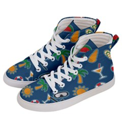 Summer Stickers Motives Cute Men s Hi Top Skate Sneakers by AnjaniArt