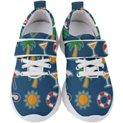 Summer Stickers Motives Cute Kids  Velcro Strap Shoes