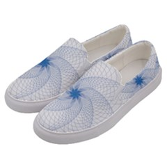 Spirograph Pattern Geometric Men s Canvas Slip Ons by Mariart