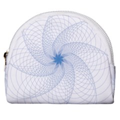 Spirograph Pattern Geometric Horseshoe Style Canvas Pouch by Mariart