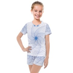Spirograph Pattern Geometric Kids  Mesh Tee And Shorts Set by Mariart