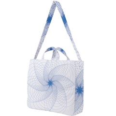 Spirograph Pattern Geometric Square Shoulder Tote Bag by Mariart