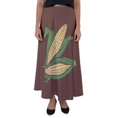 Sweet Corn Maize Vegetable Flared Maxi Skirt