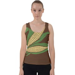Sweet Corn Maize Vegetable Velvet Tank Top