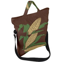 Sweet Corn Maize Vegetable Fold Over Handle Tote Bag