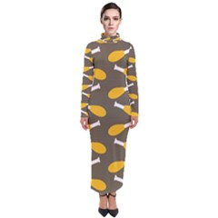 Turkey Drumstick Turtleneck Maxi Dress by Alisyart