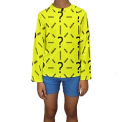 Crime Investigation Police Kids  Long Sleeve Swimwear
