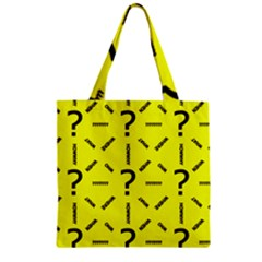 Crime Investigation Police Zipper Grocery Tote Bag
