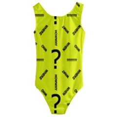Crime Investigation Police Kids  Cut-out Back One Piece Swimsuit