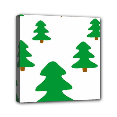 Christmas Tree Holidays Mini Canvas 6  X 6  (stretched) by Alisyart