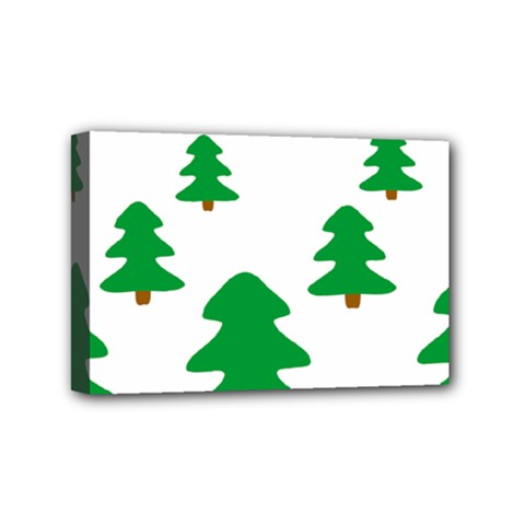 Christmas Tree Holidays Mini Canvas 6  X 4  (stretched)