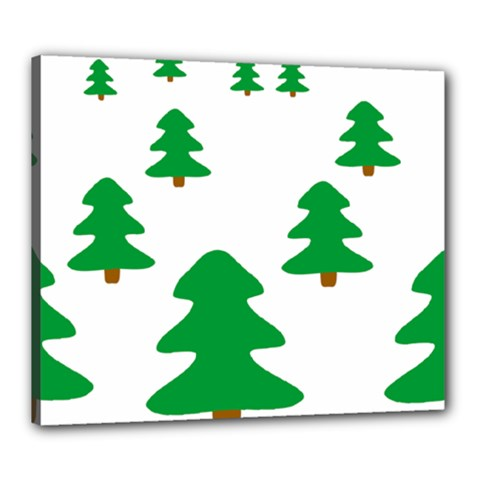 Christmas Tree Holidays Canvas 24  X 20  (stretched)