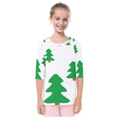 Christmas Tree Holidays Kids  Quarter Sleeve Raglan Tee