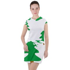 Christmas Tree Holidays Drawstring Hooded Dress