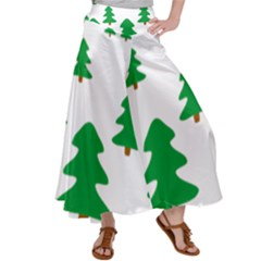 Christmas Tree Holidays Satin Palazzo Pants