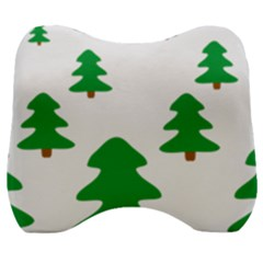 Christmas Tree Holidays Velour Head Support Cushion by Alisyart