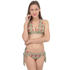 Cowboy Hat Western Tie It Up Bikini Set