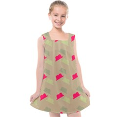 Cowboy Hat Western Kids  Cross Back Dress