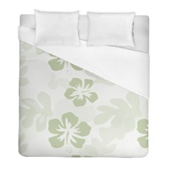Hibiscus Green Pattern Plant Duvet Cover (full/ Double Size) by Alisyart
