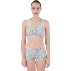 Hibiscus Green Pattern Plant Work It Out Gym Set by Alisyart