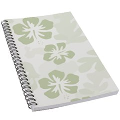 Hibiscus Green Pattern Plant 5 5  X 8 5  Notebook