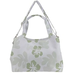 Hibiscus Green Pattern Plant Double Compartment Shoulder Bag by Alisyart