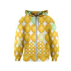 Citrus Fruit Orange Lemon Lime Kids  Zipper Hoodie