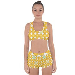 Citrus Fruit Orange Lemon Lime Racerback Boyleg Bikini Set