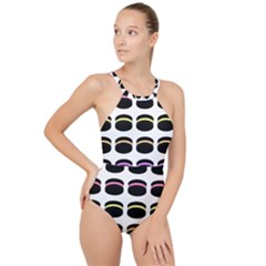 Cookies Moon Pies High Neck One Piece Swimsuit