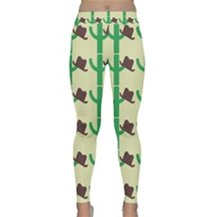 Cowboy Hat Cactus Classic Yoga Leggings by Alisyart