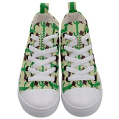 Cowboy Hat Cactus Kids  Mid Top Canvas Sneakers