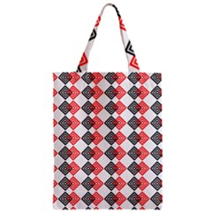 Backdrop Plaid Zipper Classic Tote Bag by Alisyart