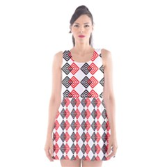 Backdrop Plaid Scoop Neck Skater Dress