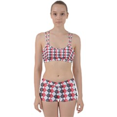 Backdrop Plaid Perfect Fit Gym Set by Alisyart