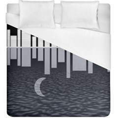 Cityscape City Waterfront Duvet Cover (king Size)