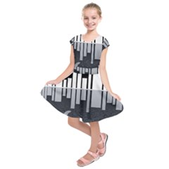 Cityscape City Waterfront Kids  Short Sleeve Dress by Alisyart