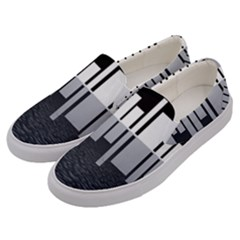 Cityscape City Waterfront Men s Canvas Slip Ons by Alisyart