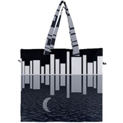 Cityscape City Waterfront Canvas Travel Bag